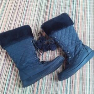 Jellypop black Quilted Lace up Boots Size 7.5M